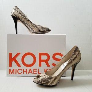 Michael Kors Sadie Snake Peep Toe Pump